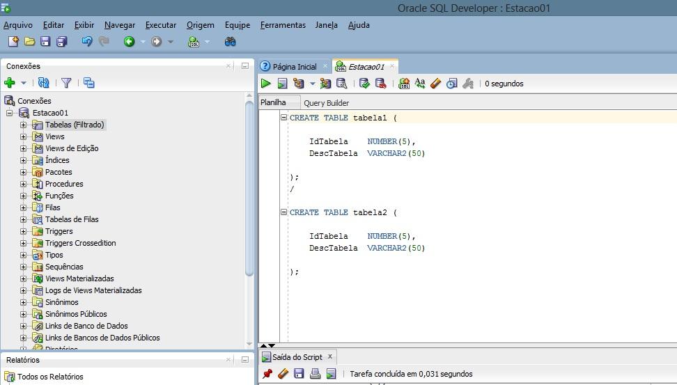Maio 2014 desenvolvimento c digo aberto p gina 2 - Create table in oracle sql developer ...