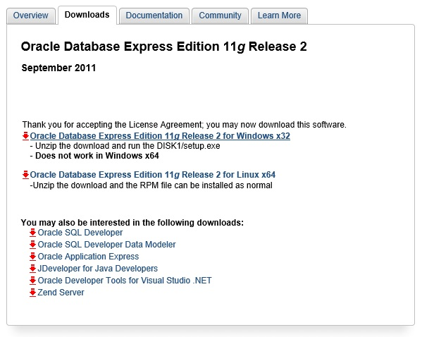 Instalando Oracle Database Express (XE 11 2) 32bit e 64bit no