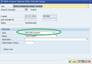 Tipo I - Programa Include