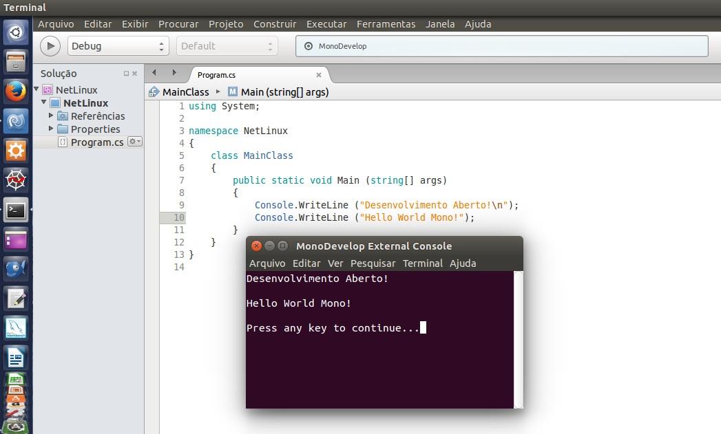Instalando o Mono – Opensource – C#  Net Framework – Linux