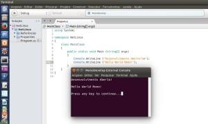 Programa C# - Linux