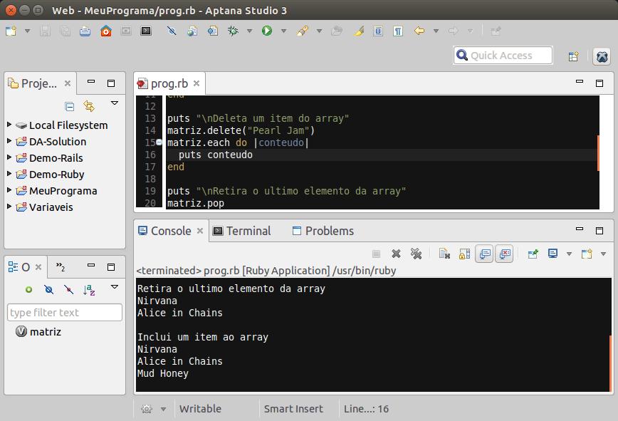 Ruby – Data Type – Array – Linux   Desenvolvimento Código Aberto
