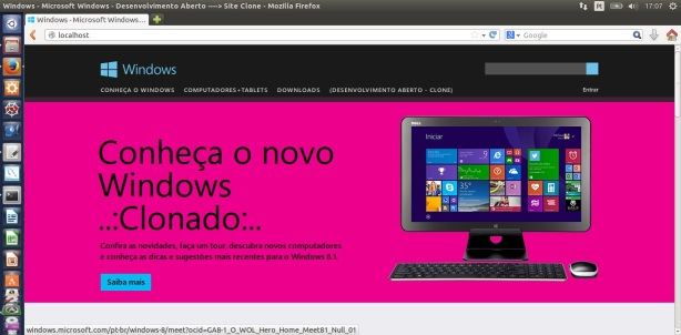 Site - Windows - Clonado - Localhost