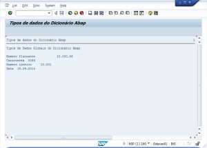 Abap Dictionary Types