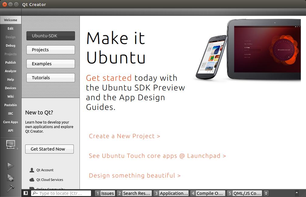 Ubuntu SDK – Software Development Kit – QTCreator – Visual