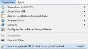 Inserir imagem de CD