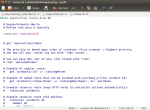 Rails - Configura Rotas