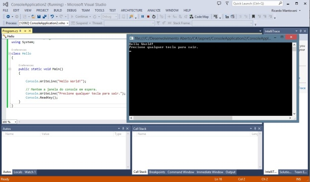 Visual Studio - C# - Console