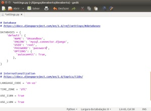 MySQL - settings.py