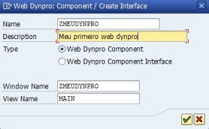 Dynpro - Criar Componente