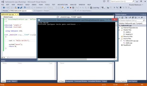 Visual Studio - C++ - Console
