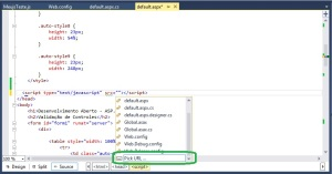 Visual Studio - Pick URL