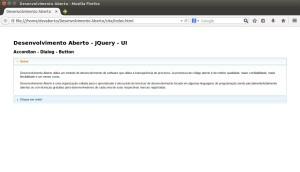 JQuery UI - Aplicação