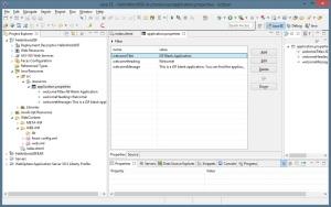 JSF - Application Properties