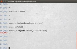Django - CRUD - Deletar - Dados