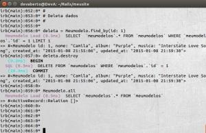 Active Record - Deleta - Dados