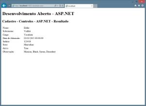 ASP.NET - Resultado