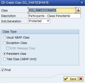 Classe - ZCL_PARTICIPANTE