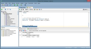 Oracle SQL Developer - Resultado