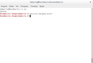MongoDB - inicia banco de dados
