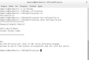 Mono - 4.0 - C# - Programa