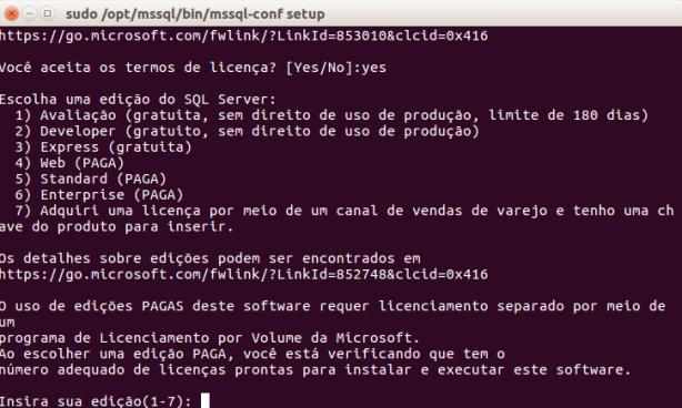 mssql-linux-install-3-edicao